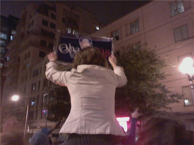 Downtown Seattle - Election Night, by JRM