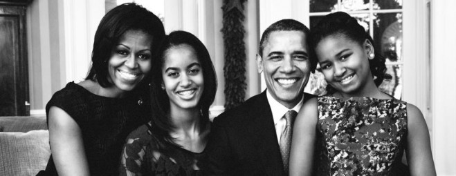 Image result for obama family black and white